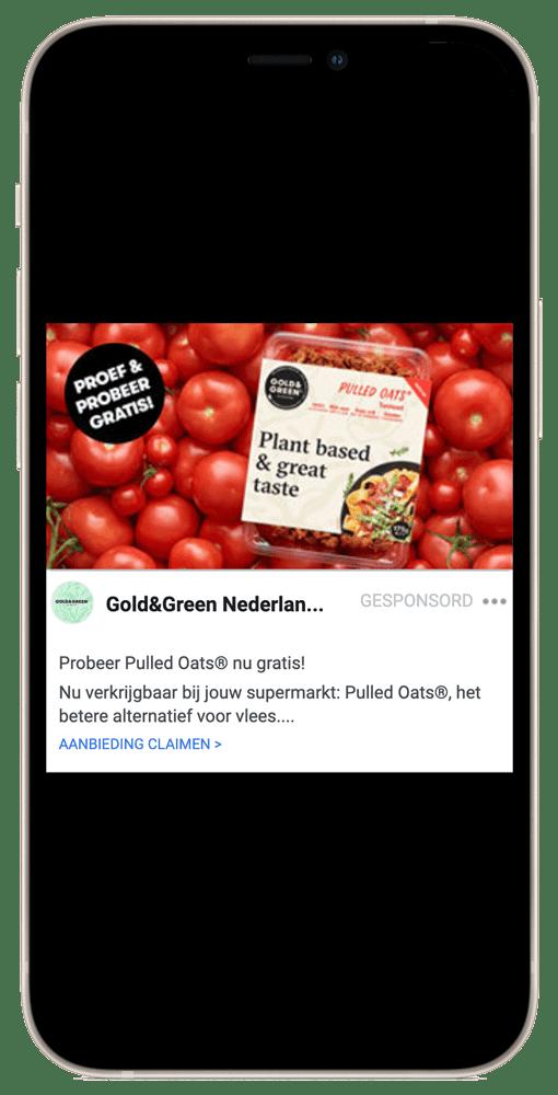 Gold & Green social Media cashback campagne